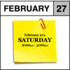 Appointment - February 27th - Saturday (2:00pm-3:00pm)