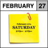 Appointment - February 27th - Saturday (3:15pm-4:15pm)