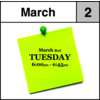 Appointment - March 2nd - Tuesday (6:00pm-6:45pm)