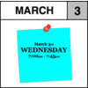 Appointment - March 3rd - Wednesday (7:00pm-7:45pm)