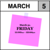 Appointment - March 5th - Friday (11:00am-12:00pm)