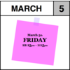 Appointment - March 5th - Friday (12:15pm-1:15pm)