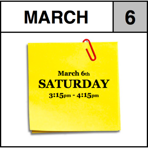 Appointment - March 6th - Saturday (3:15pm-4:15pm)