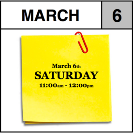 Appointments Appointment - March 6th - Saturday (11:00am-12:00pm)