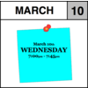 Appointment - March 10th - Wednesday (7:00pm-7:45pm)