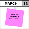 Appointment - March 12th - Friday (2:00pm-3:00pm)