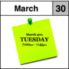 Appointment - March 30th - Tuesday (7:00pm-7:45pm)