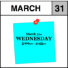 Appointment - March 31st - Wednesday (5:00pm-5:45pm)