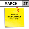 Appointment - March 27th - Saturday (3:15pm-4:15pm)