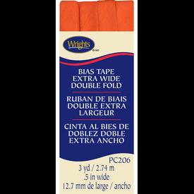 Bias Tape - (.5) Wide Double Fold - Orange