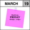 Appointment - March 19th - Friday (12:15pm-1:15pm)