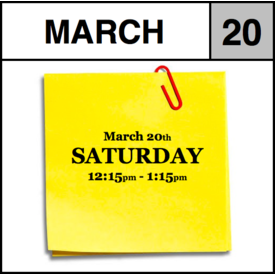 Appointments Appointment - March 20th - Saturday (12:15pm-1:15pm)