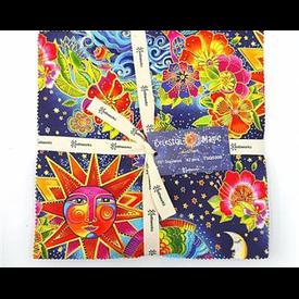 Layer Cake - (42pc) 10x10 Inch Squares / Laurel Burch / Celestial Magic