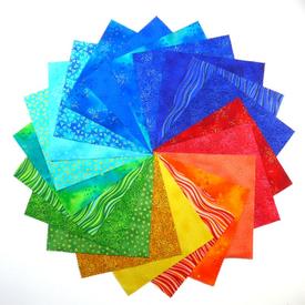 Layer Cake - (42pc) 10x10 Inch Squares / Laurel Burch / Solar Prism