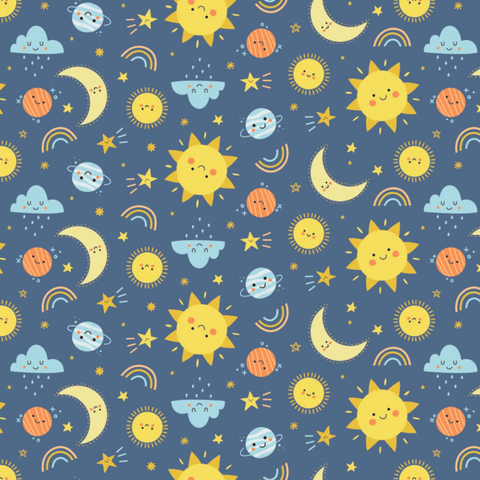 Camelot - Flannel / Cheerful Sky / Navy / 21200102B-2