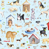 Benartex - Think Pawsitive / Dogs Rule / Blue / 9729-05