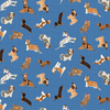 Clothworks - Uptown Dogs / Tossed / Denim / Y3143-88
