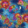 Laurel Burch - Celestial Magic / Multi / Metallic / Y3160-56M