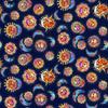 Laurel Burch - Celestial Magic / Suns / Navy / Metallic / Y3161-93