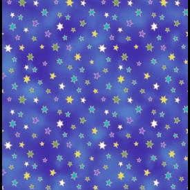 Laurel Burch - Celestial Magic / Stars / Dark Blue / Y3166-30