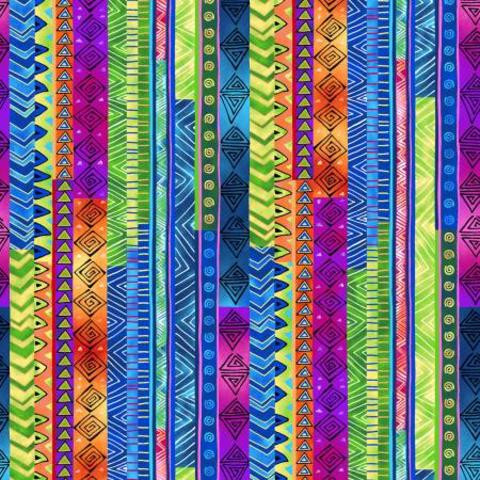 Laurel Burch - Celestial Magic / Stripe / Multi / Y3163-55