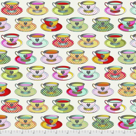 Tula Pink -  Curiouser and Curiouser / Tea Time / PWTP163.SUGAR