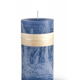 Timber Candle 3.25x6 Eng Blue - Vance Kitira
