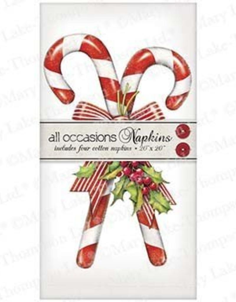 Candy Canes w/Holly Napkins