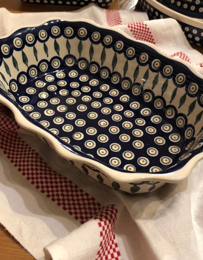Scalloped Dish - Peacock