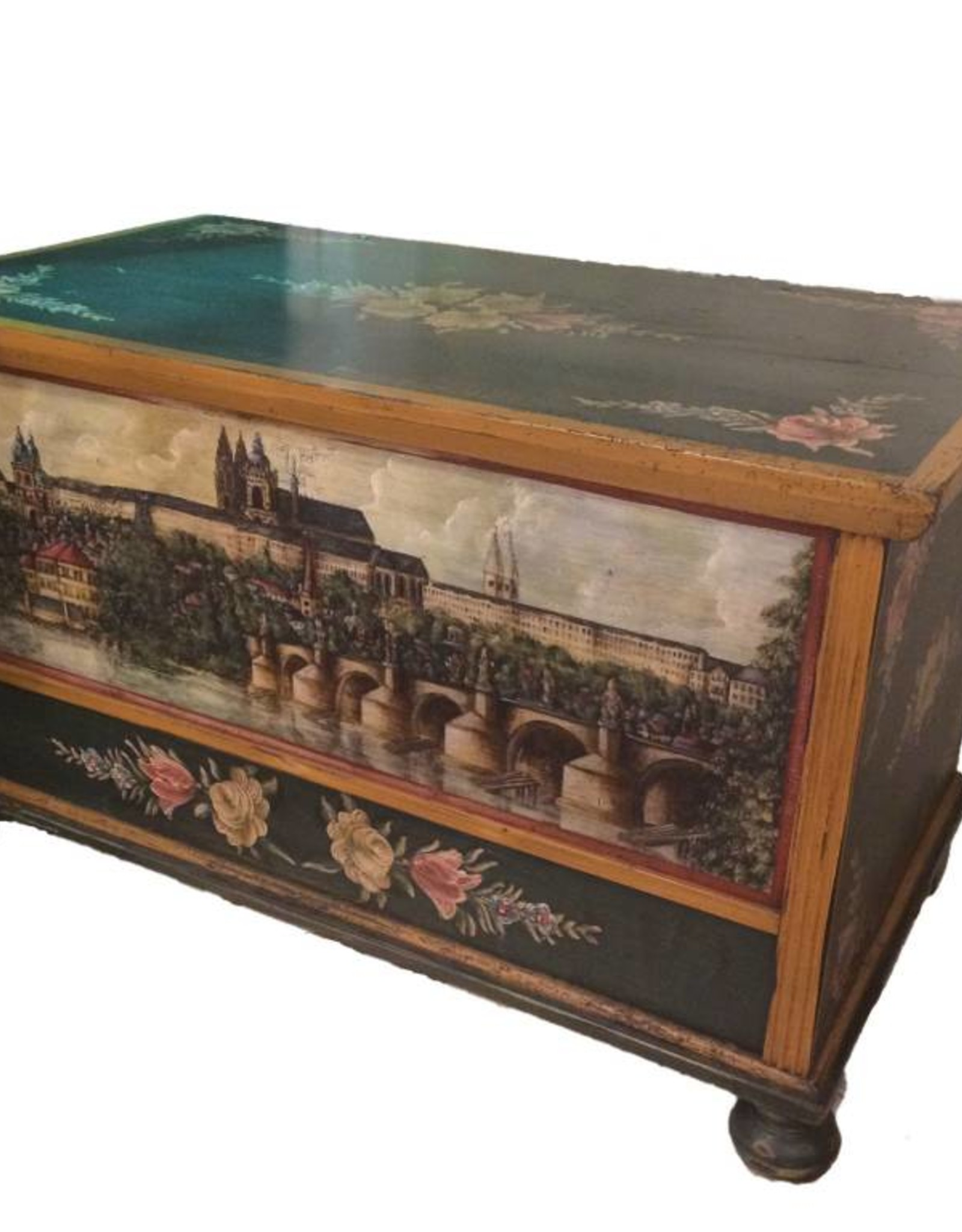 Hand Painted Trunk I - Prague