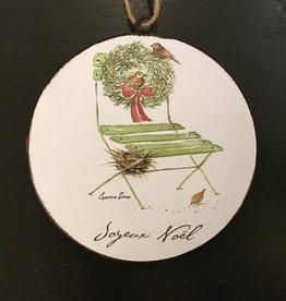 Joyeux Noel French Chair Disc Ornament