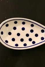 Spoon Rest - White/Blue Dots