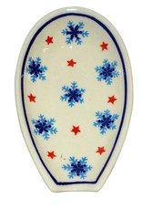Spoon Rest - Christmas Snowflakes (D1179 Trees Pattern)