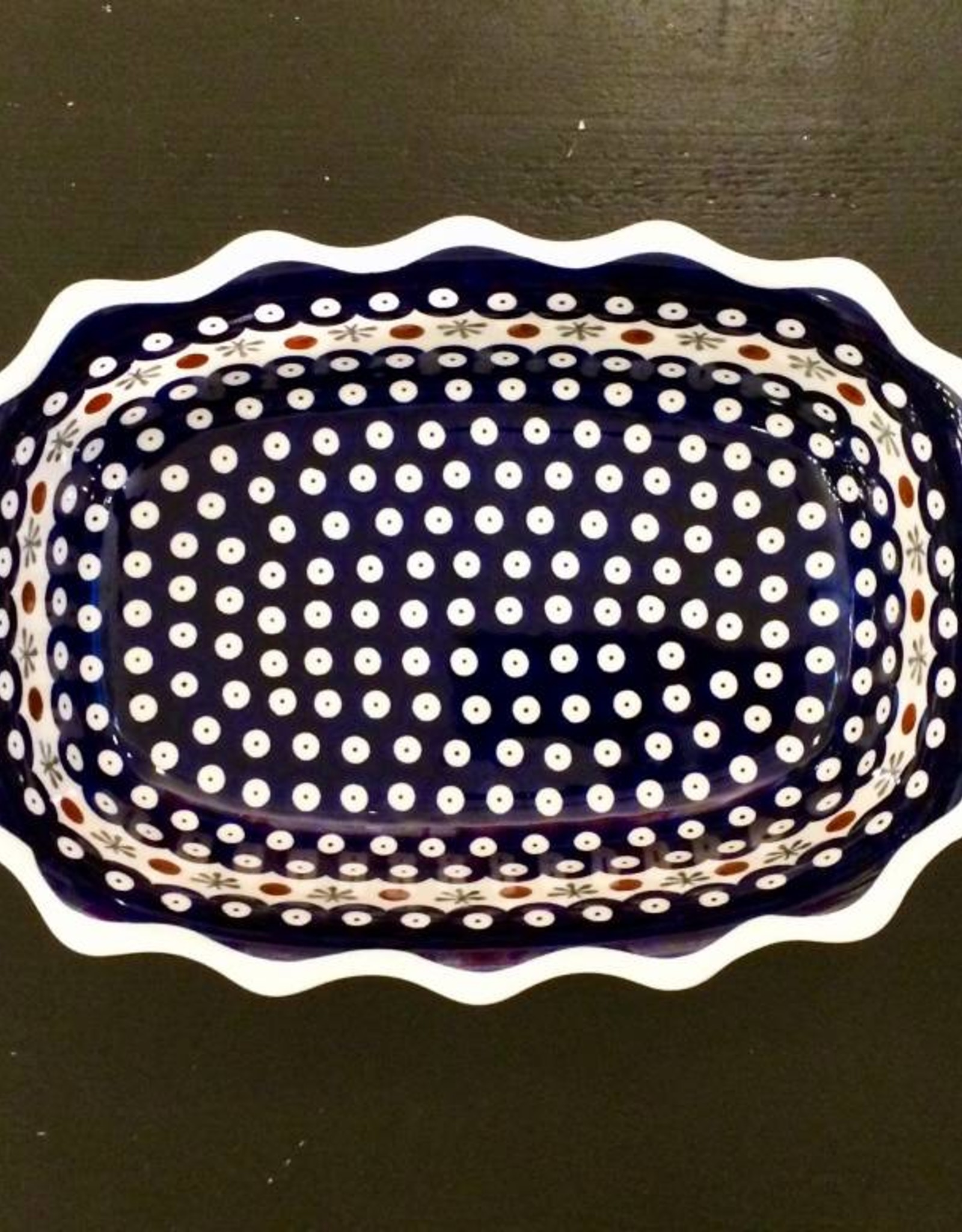 Scalloped Dish - Old Poland