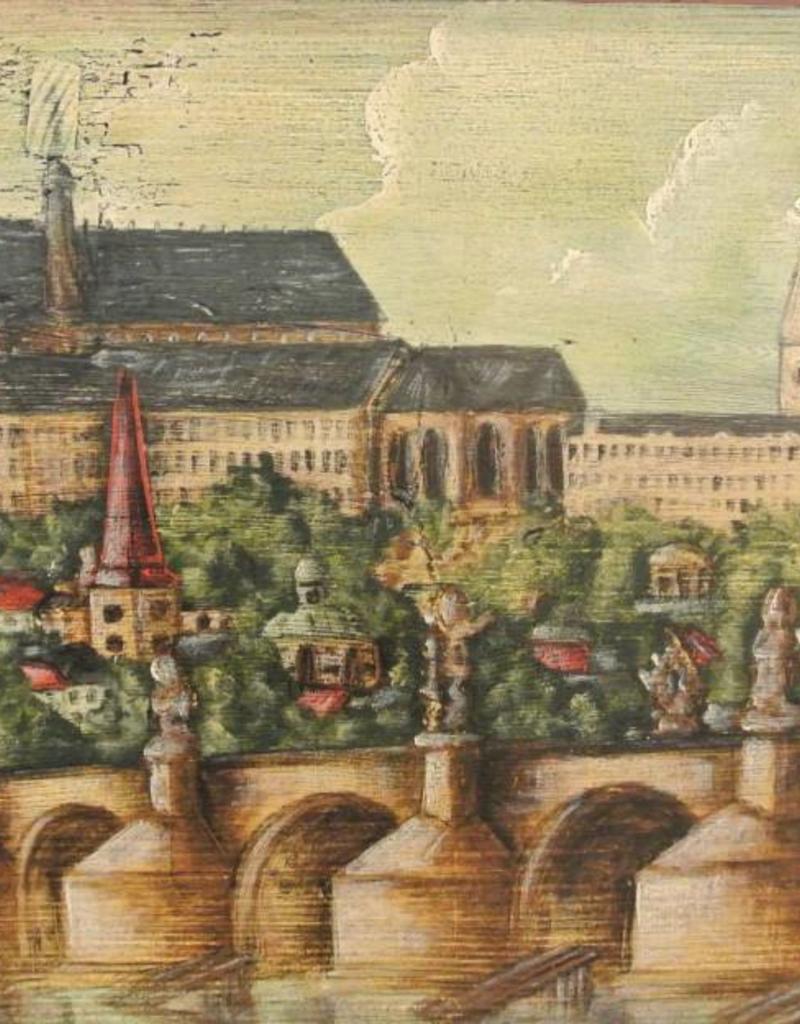 Hand Painted Trunk I - Prague