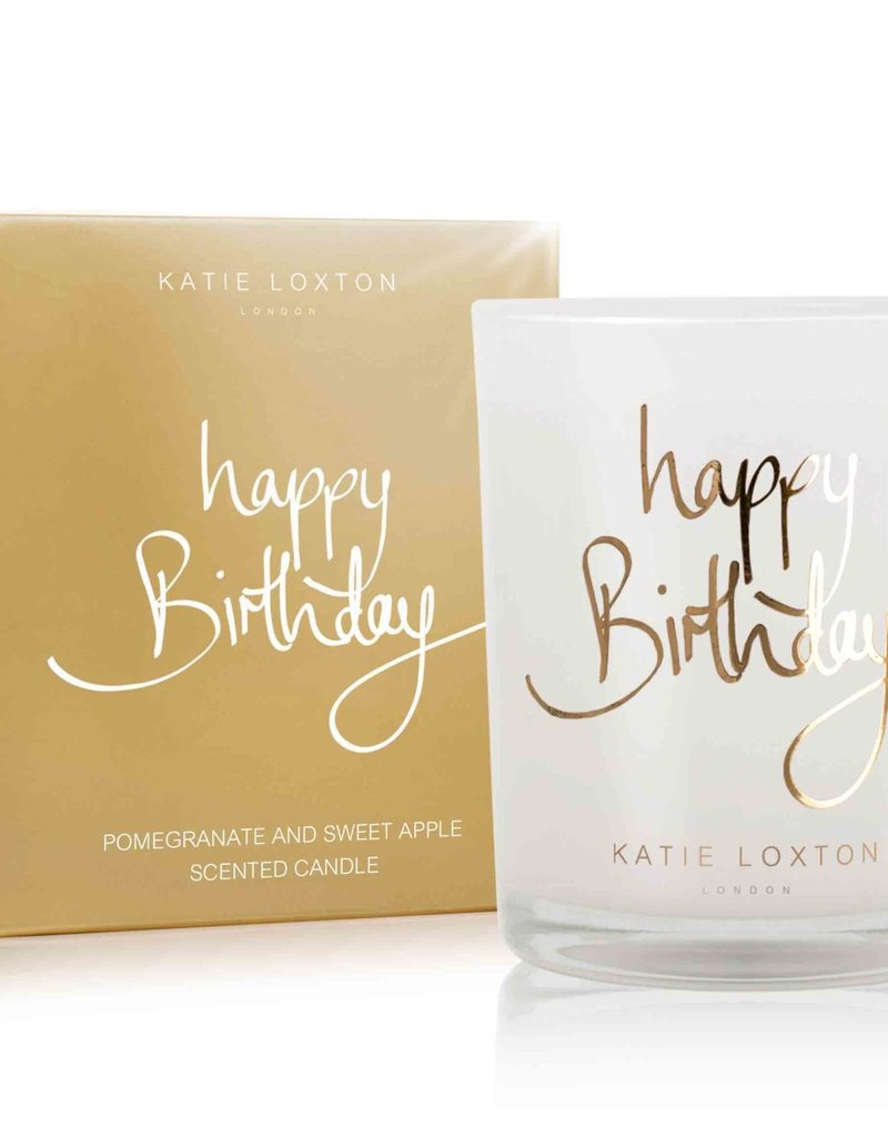 Katie Loxton KL Metallic Candle Happy Birthday