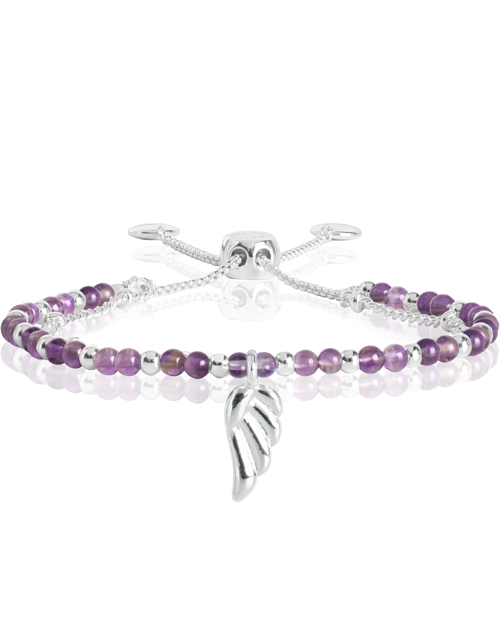 Katie Loxton KLSS - Family Bracelet - Silver with Amethyst Stones