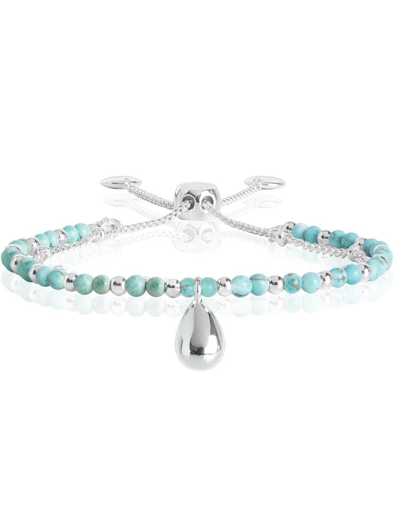 Katie Loxton KLSS - Free Spirit Bracelet - Silver with Turquoise Stones
