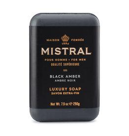 Mistral Men's Collection Soap - Black Amber