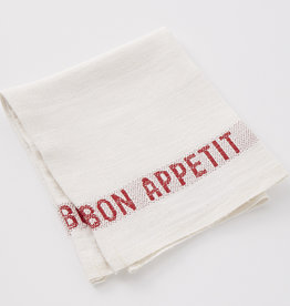 "Charvet Editions Charvet Editions - Napkin Placemat Bon Appetit White/Red- 17""x13"""