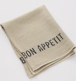 """Charvet Editions Charvet Editions - Napkin/Placemat Bon Appetit Natural/Black 17""""x13"""""""