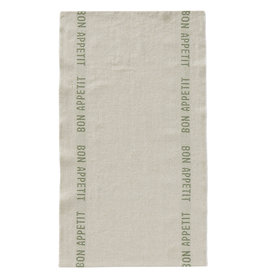 "Charvet Editions - Bon Appetit Tea towel - Natural/Khaki 18"" x 30"""