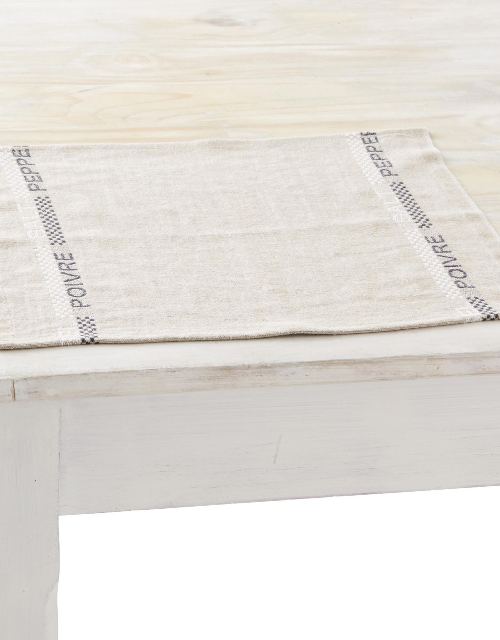 "Charvet Editions - Napkin/Placemat Pepper & Salt -17""x13"""