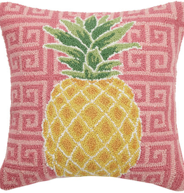 "Preppy Pineapple  Hook Pillow - 18"" x 18"""