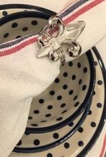"""Charvet Editions - Napkin Drapeau White 21"""" x 21"""""""