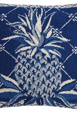 """Blue Pineapple Hook Pillow - 18"""" x 18"""""""