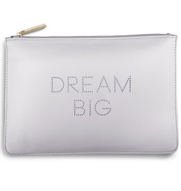 Katie Loxton Polka Dot Pouch - Dream Big - Lilac