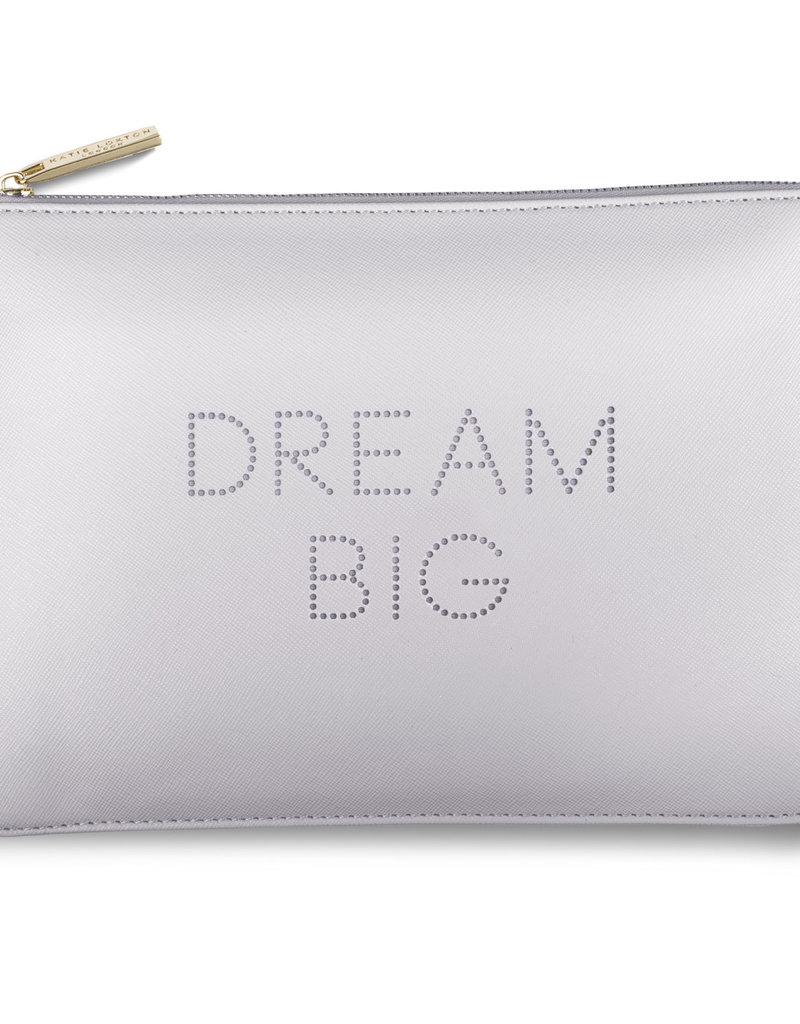 Katie Loxton Polka Dot Pouch - Dream Big - Lilac