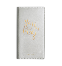 Katie Loxton KLTravel Wallet - Yay for Vacay - Metallic Siler
