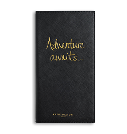 Katie Loxton Travel Wallet - Adventure Awaits - Black